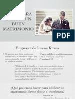 Bases Para Iniciar Un Buen Matrimonio