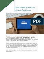 Las Principales Diferencias Entre Perfil y Página de Facebook