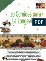 COMIDAS PARA LA LONGEVIDAD.ppt