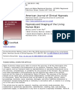 Hypnosis and Imaging of the Living Brain