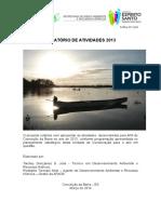Relatório de Atividades 2013