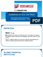 Guideline Ibra' and Waqf