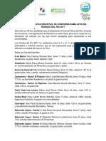 15-05-2017 CON 36 CANDIDATAS INSCRITAS, SE CONFORMA RAMILLETE DEL REINADO DEL RÍO 2017.