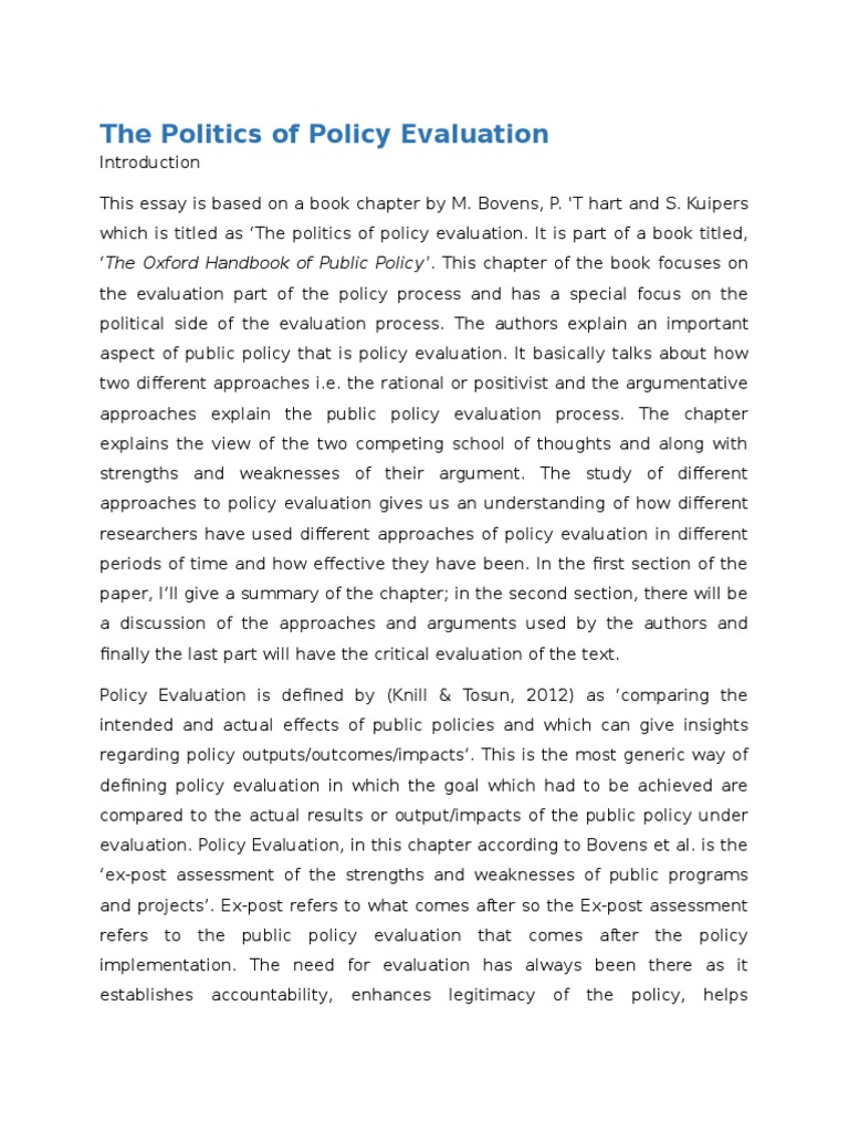 the politics of policy evaluation revised policy analysis  the politics of policy evaluation revised policy analysis rationalism