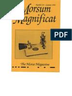 Morsum Magnificat The Original Morse Magazine-MM24