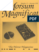 Morsum Magnificat The Original Morse Magazine-MM25