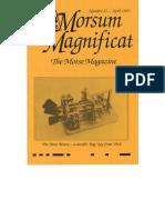 Morsum Magnificat The Original Morse Magazine-MM27