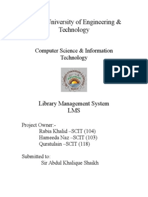 11600682-Library-Management-System doc | Librarian | Use Case