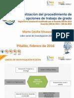 Presentación Procedimiento Opciones de Trabajo de Grado Ecacen 2016 1-1