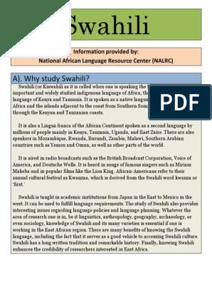 Swahili | Swahili Language | East Africa