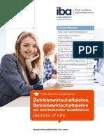 iba - Duales Bachelor Studium BWL