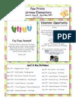 April & May 2017 Paw Prints (1)