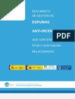 Gestión de Espumas anti-incendios que contengan PFOS o sustancias relacionadas