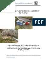 Analisis Agua Potable - Huamparan - Cibuyita