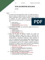 Examen Locomotor 2015-2016 (RESUELTO)