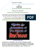 Misconceptions About 15th Shabaan