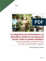 Forestacion y Agricultura Urbana en Planes de Acción Sobre Cambio Climático