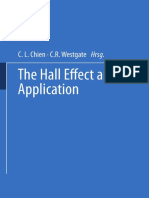 Colin M. Hurd Auth., C. L. Chien, C. R. Westgate Eds. the Hall Effect and Its Applications