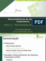 DSC Aula1.1 Apresentacao