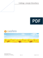 Catalogo de Enrgia Fotovoltaica Ecoesfera