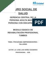 Programa de Emprendedores del MBRPS TUMBES