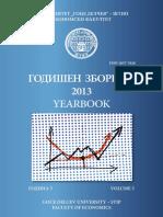 Ekonomski Fakultet, Godisen Zbornik 2013