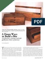 Fine Woodworking - project plan - A Dozen Ways to Build a Box.pdf