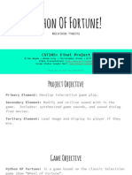 python of fortune  presentation