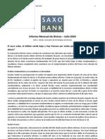 Saxo Bank - Informe Mensual de Divisas del 27 de Julio de 2010