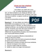 Exercices Sur Les Chaînes