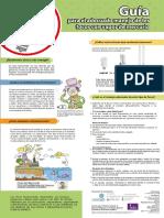 Guía para el adecuado manejo de los focos ahorradores. Infografía