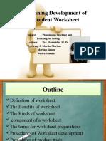 g.3. Planning Development of Student Worksheet