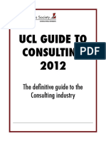 UCL Guide to Consulting 2012