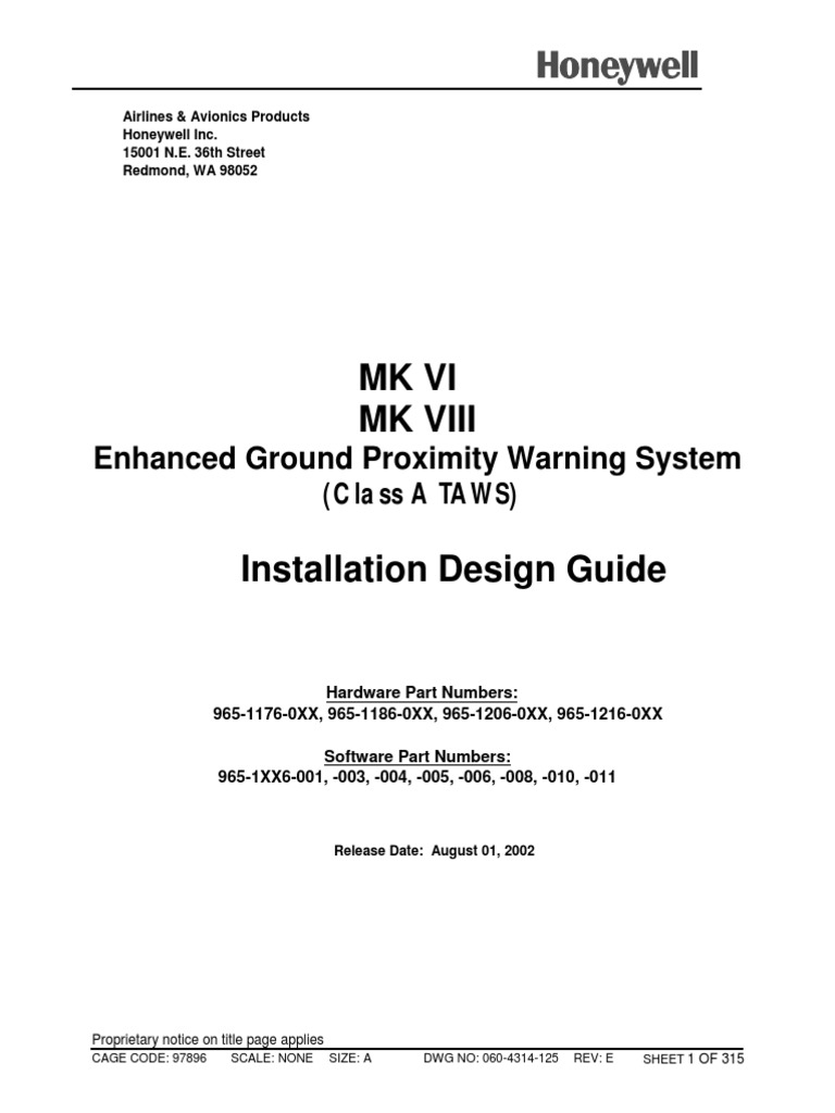 Installation Design Guide MKVI | Electronic Engineering | Electronics