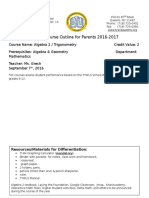 courseoutlinealg2 grech 2016-17 revised