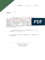 Modelo Carta Oferta - Inmueble
