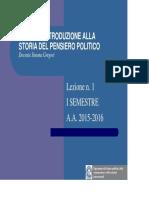 4. Introduzione Alla Storia Del Pensiero Politico. Da Machiavelli Agli Anni '20 Del XVIII Secolo.