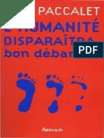 L'Humanité Disparaîtra - Bon Débarras - Yves Paccalet