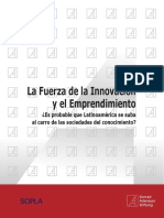 La Fuerza de La Innovación y El Emprendimiento. SOPLA 2016 (1)