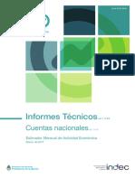 Estimador Mensual de Actividad Económica Marzo 2017. INDEC
