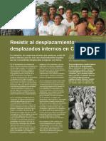 Resistir Al Desplazamiento - Desplazados Internos Colombia - Fuentes Testimoniales