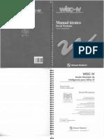 WISC -IV (Manual de Aplicación)