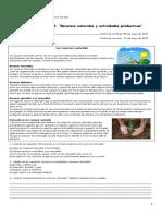 Tarea Al Hogar Nº4 Recursos Naturales y Actividades Productivas 4ºA (1)