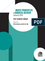 Climate Principles Progress Review