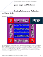 The Use of the Binding Talisman and Reflections on Divine Unity – Frater S- Musings on Magic and Mysticism
