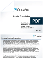 2017.05.04 - ConMed CNMD Investor Presentation - Piper Jaffray NDRS - FINAL