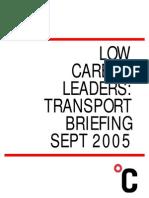 Low Carbon Leader Transport Briefing