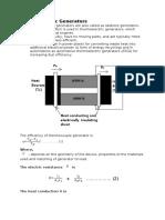 Thermoelectric Generators