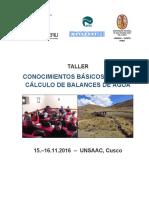 Taller PACC Balance de Agua UNSAAC Nov 2016 (1)