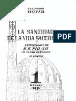 La Santidad en La Vida Sacerdotal Pio XII